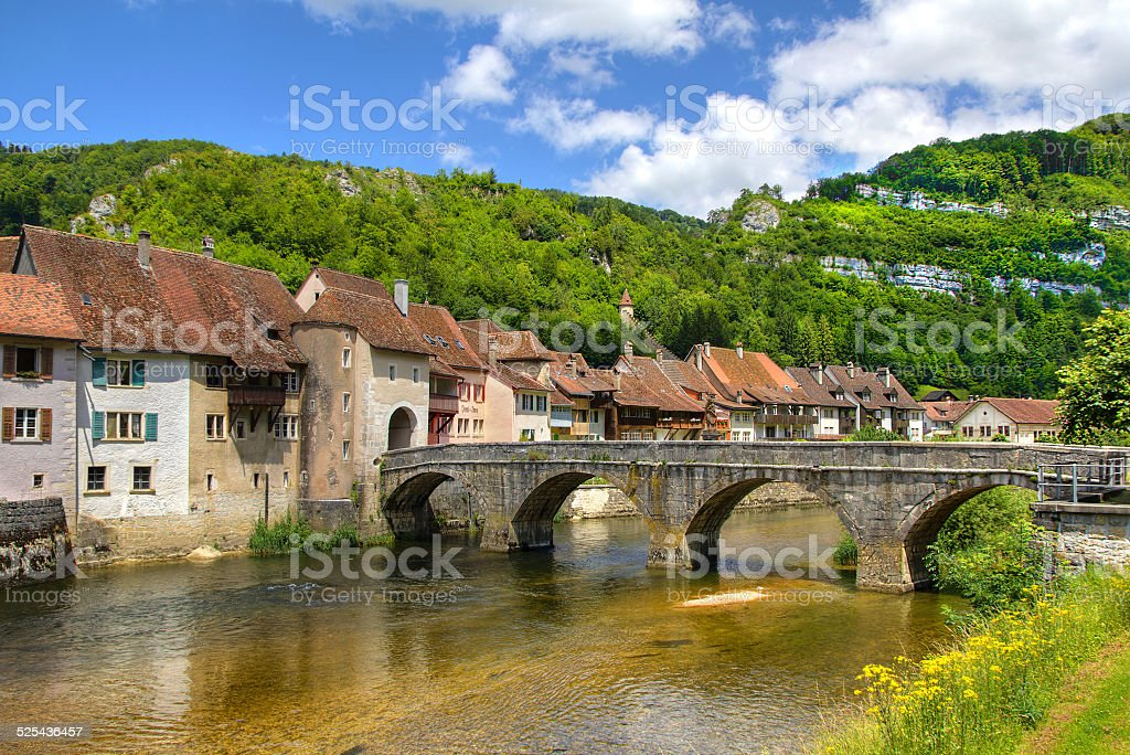 Saint-Ursanne stock photo