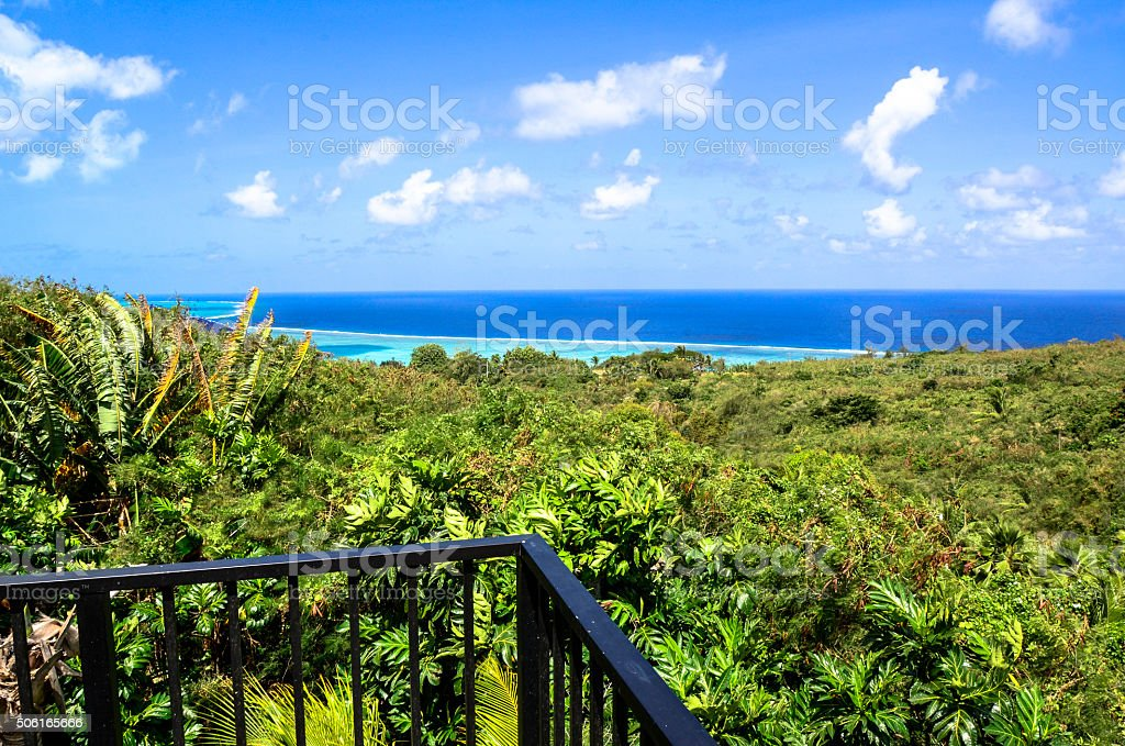 Saipan deck stock photo