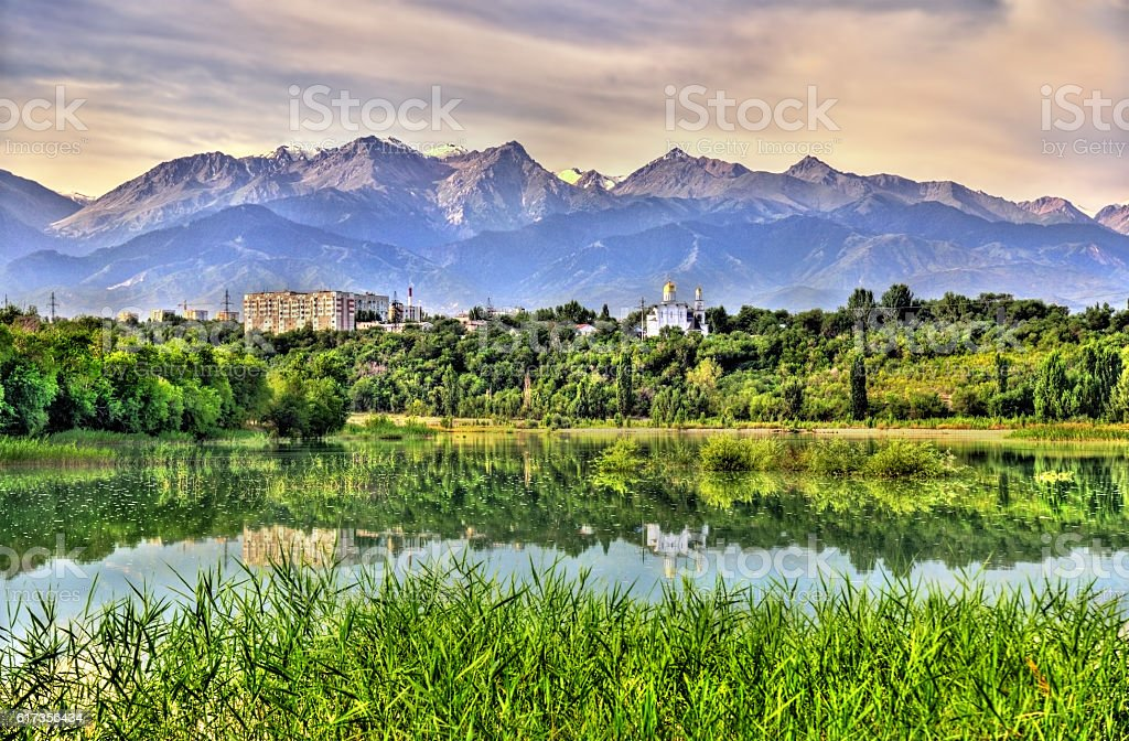 Sairan reservoir in Almaty - Kazakhstan stock photo