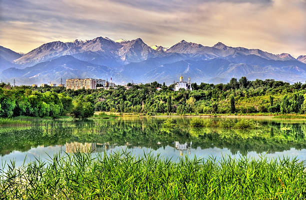 Sairan reservoir in Almaty - Kazakhstan stock photo