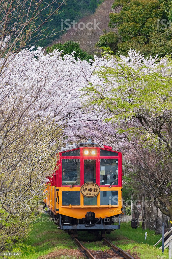 Sakano Romantic Train in Kyoto, Japan – Foto