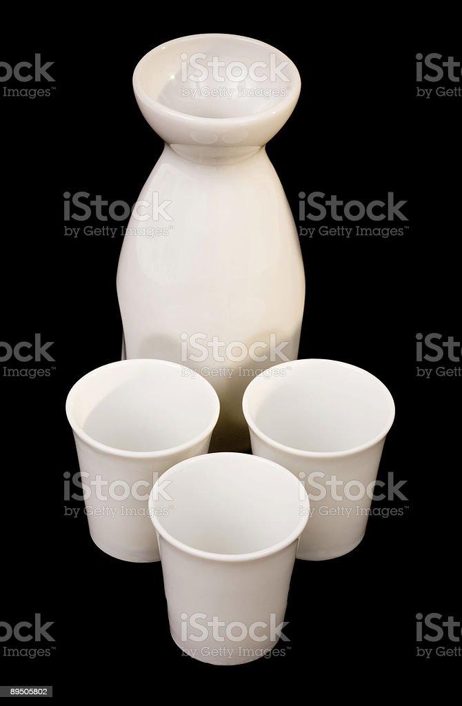 Sake serving set royalty-free stock photo
