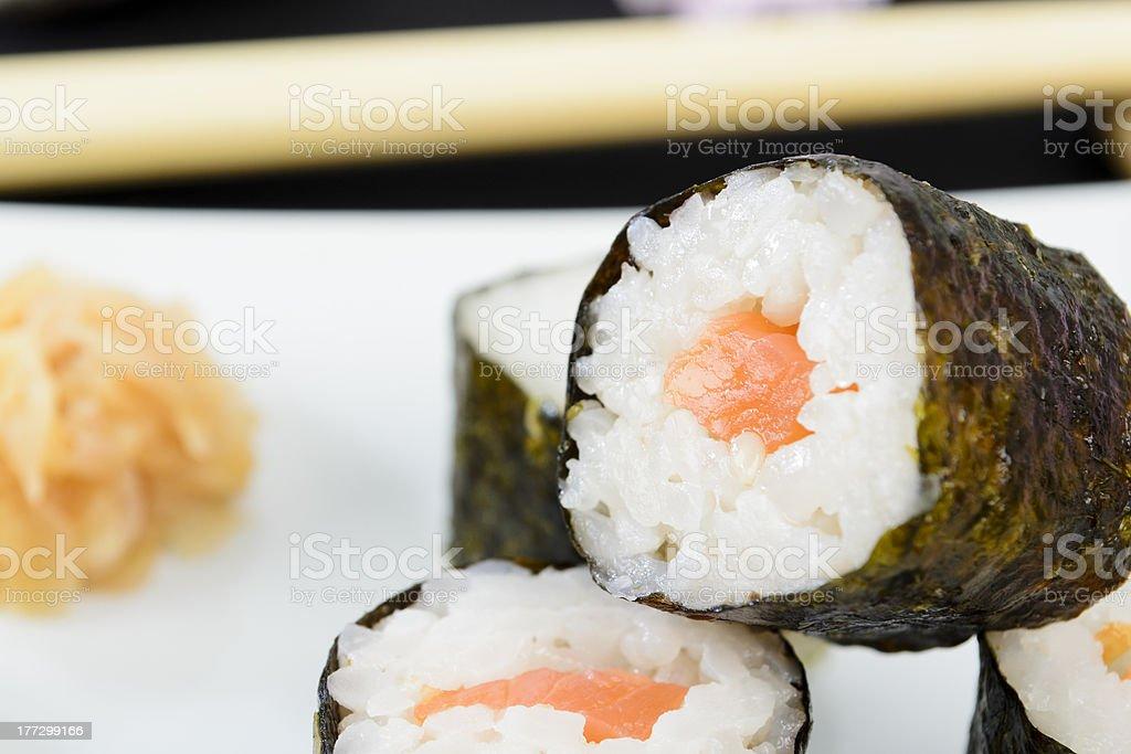 Sakemaki ( (鮭巻) stock photo