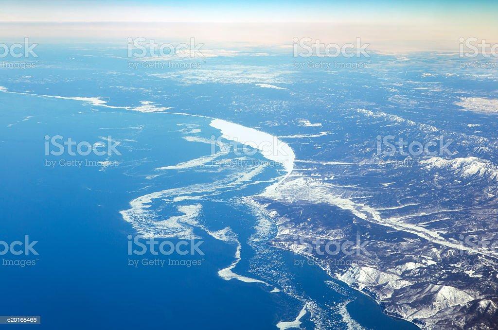 Sachalin insel, winter Meer, Russland – Foto