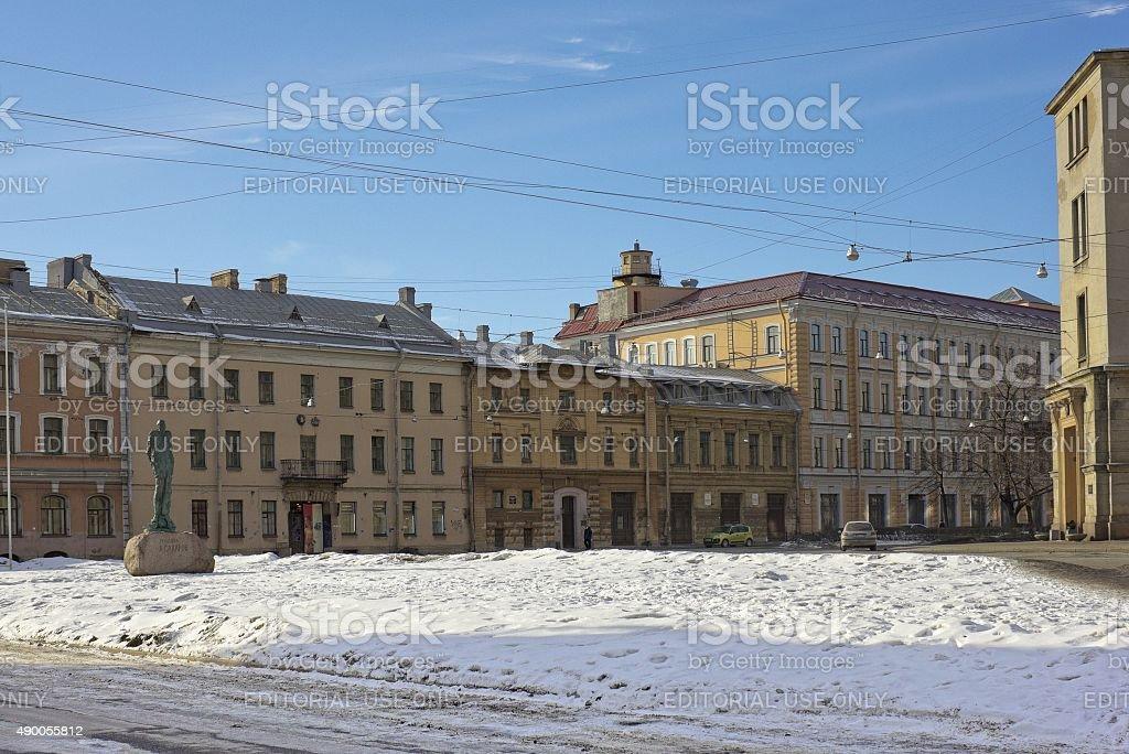 Sakharov площадь в Санкт-Петербург, Россия стоковое фото