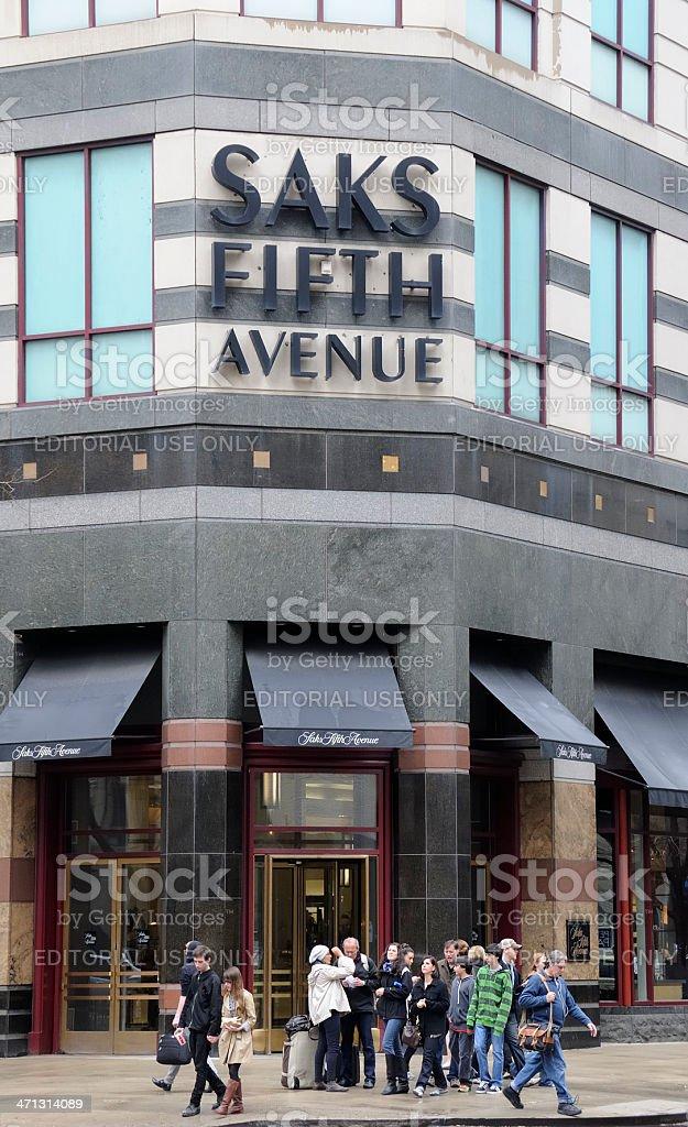 Saks Fifth Avenue, Chicago stock photo