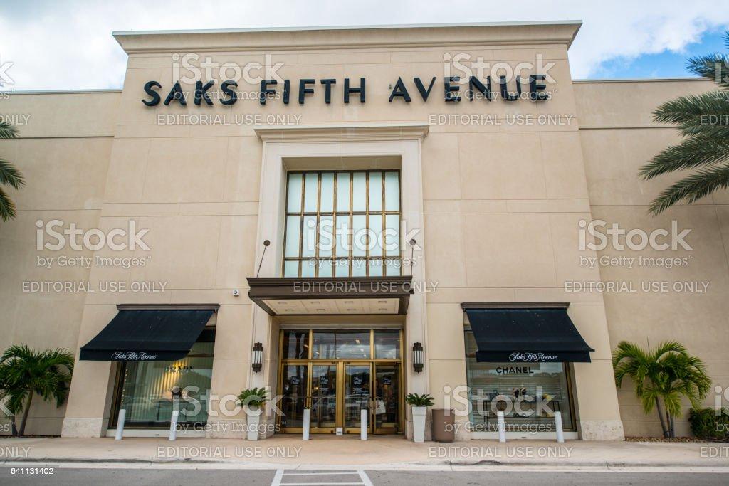 Saks Fifth Avenue Department Store in Boca Raton, USA stock photo