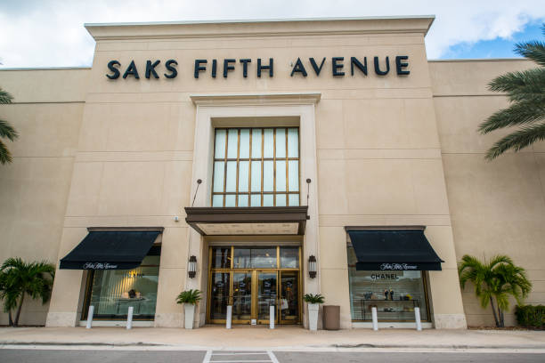 Saks Fifth Avenue Department Store in Boca Raton, USA stock photo