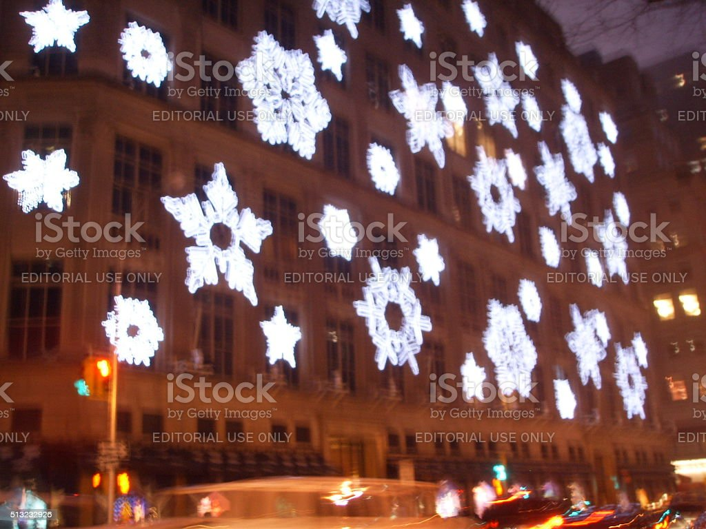 Saks Fifth Avenue Light Show In Manhattan In 2007. Royalty Free Stock Photo