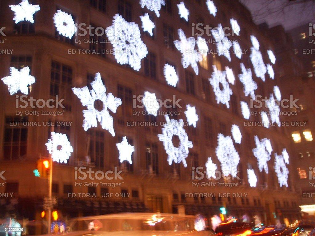Saks Fifth Avenue Light Show in Manhattan in 2007. stock photo