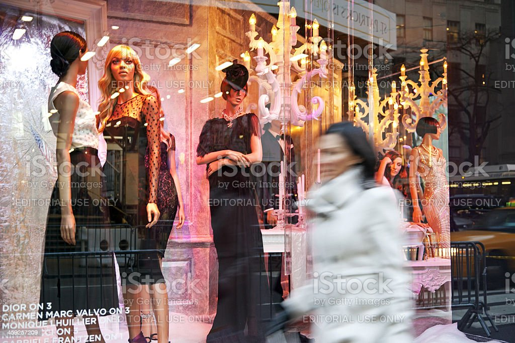 Saks Fifth Avenue royalty-free stock photo