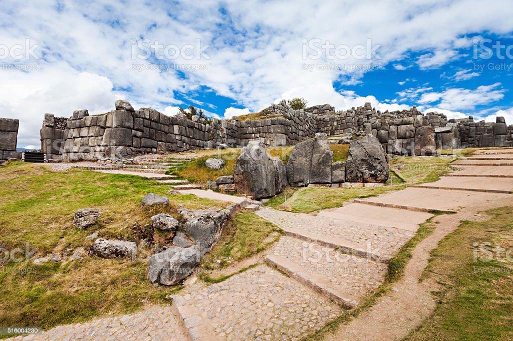 Saksaywaman in Cusco stock photo