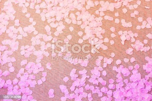 immitation sakura flower petals on a traditional japanese flooring