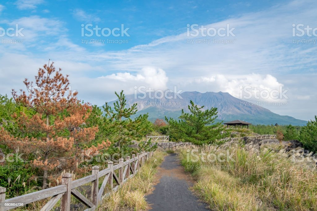 Sakurajima volcano royalty-free stock photo