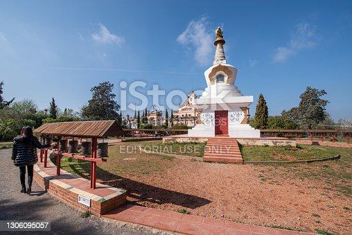 istock Sakya Tashi Ling Buddhist Monastery , garraf park, sitges, Spain 1306095057
