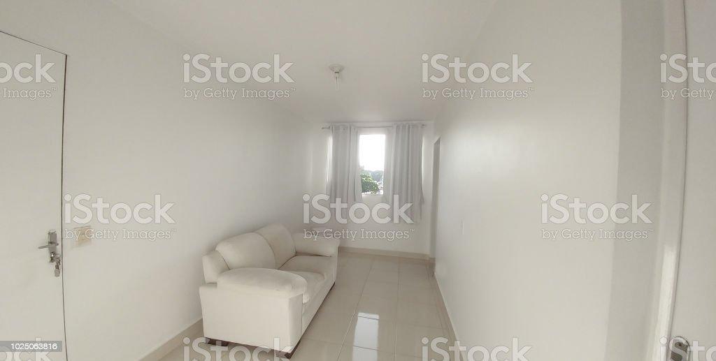Sala branca vazia (Empty white room) stock photo