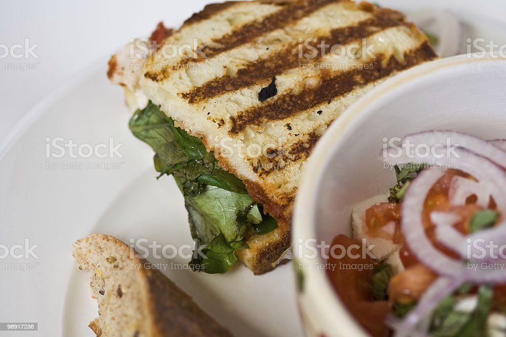 Salad & Sandwich Lunch royalty-free stock photo