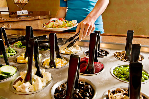 Salad Bar Selection stock photo