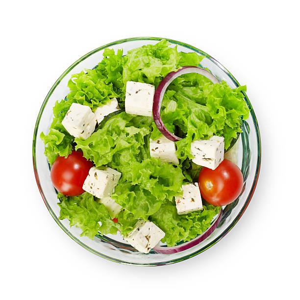 Salad bowl isolated stock photo