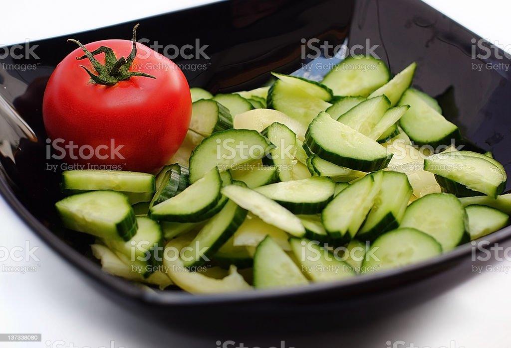 Salad bowl royalty-free stock photo