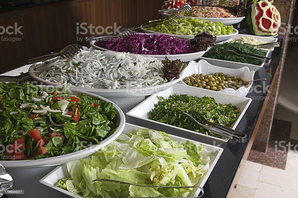 Salad Buffet royalty-free stock photo