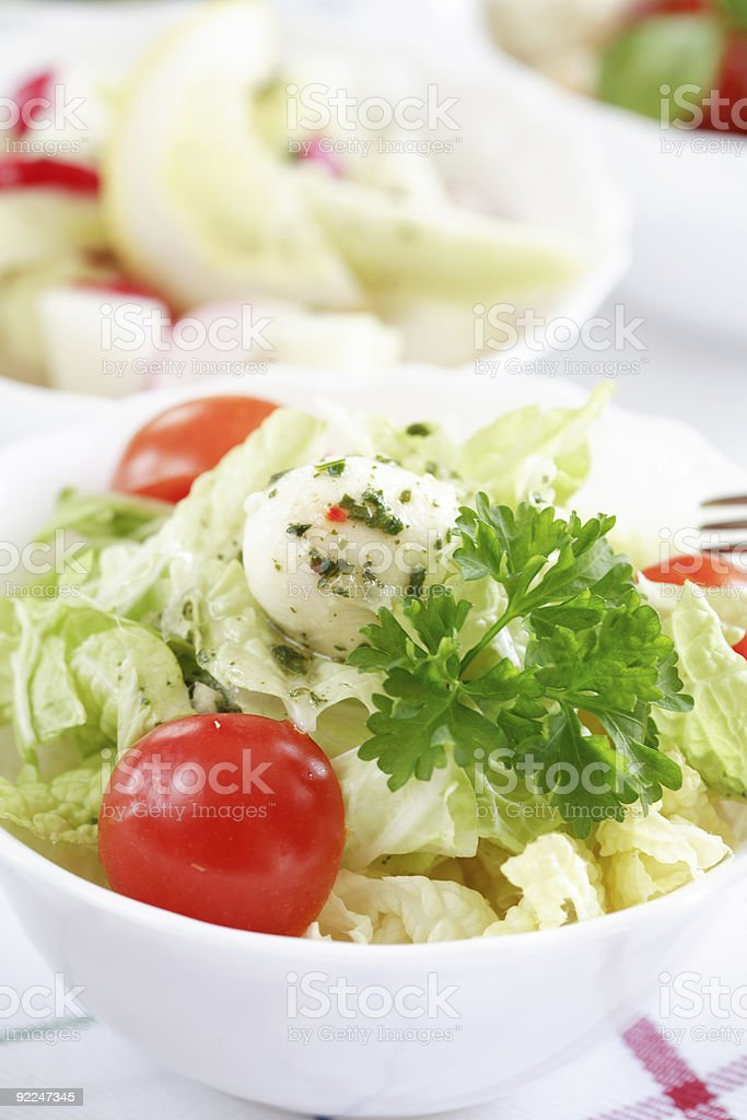 Salad buffet stock photo