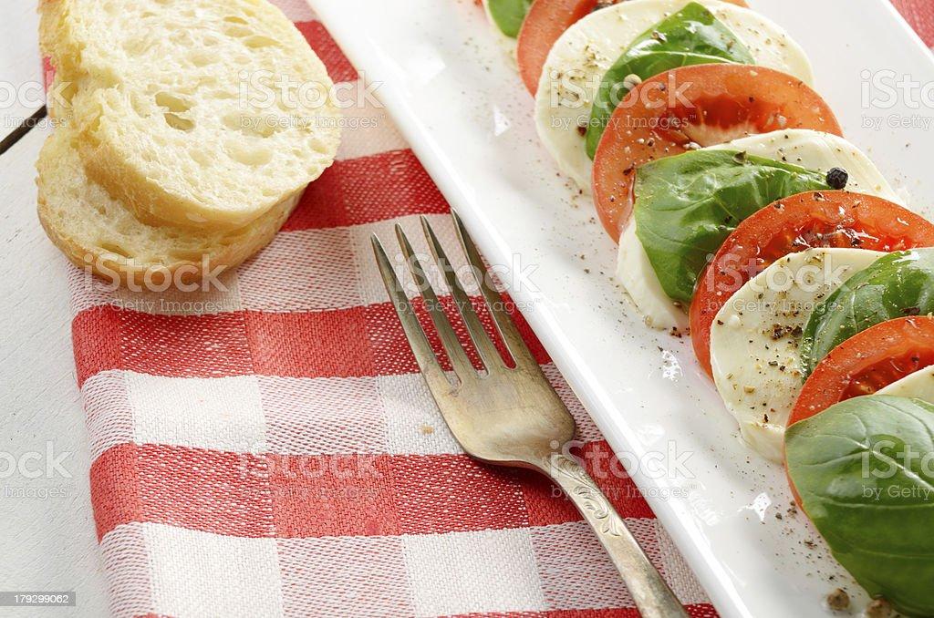 Salad caprese royalty-free stock photo