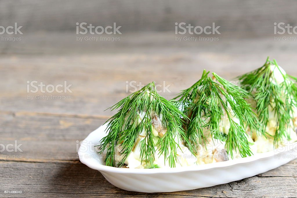 Salad Christmas tree foto stock royalty-free