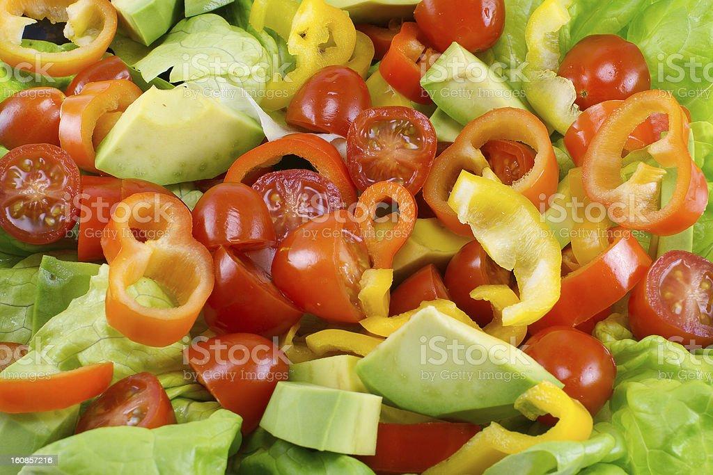 Salad Close Up royalty-free stock photo