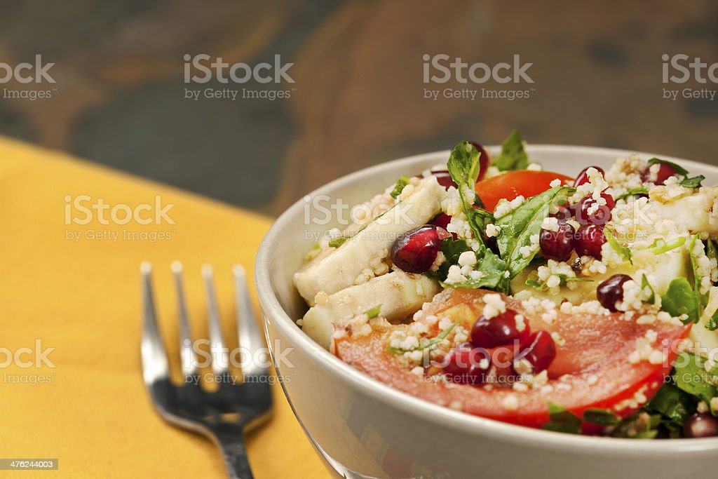 Salad: Couscous with Vegetables and Fruit royalty-free stock photo