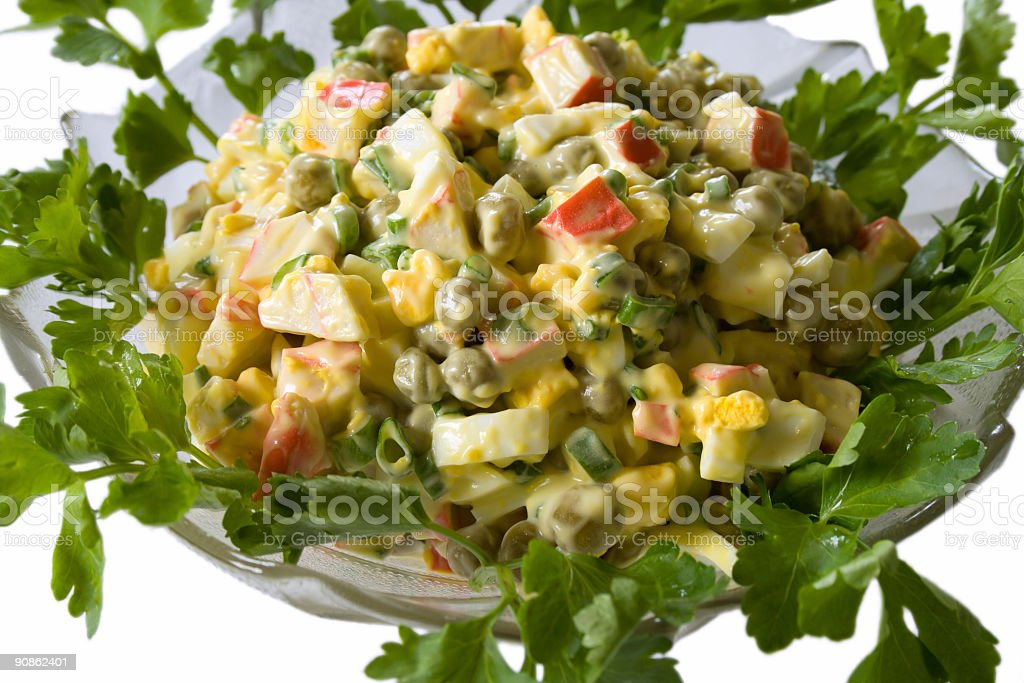 salad - crabs and eggs royalty-free stock photo