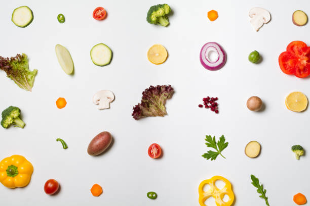 salad deconstructed - ingrediente foto e immagini stock