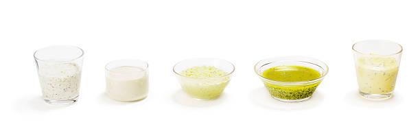 salat-dressing - sauce bernaise stock-fotos und bilder