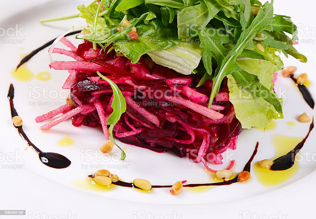 Salad from a fresh beet royalty-free stock photo