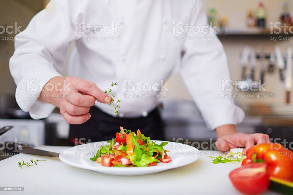Salad from chef stock photo