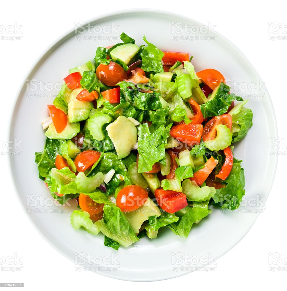 Salad from fresh vegetables stock photo