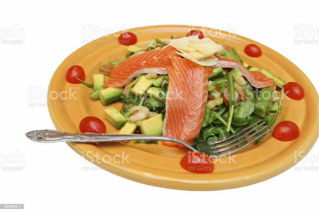 Salad from seafoods royalty-free stock photo