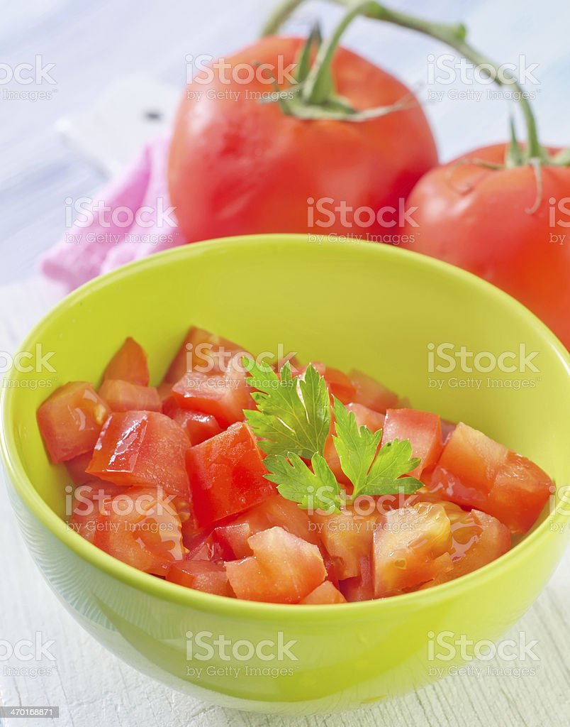 salad from tomato royalty-free stock photo