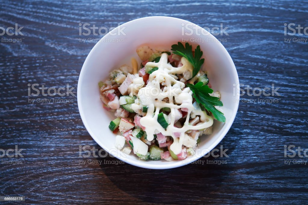 Salad In Bowl royalty-free stock photo