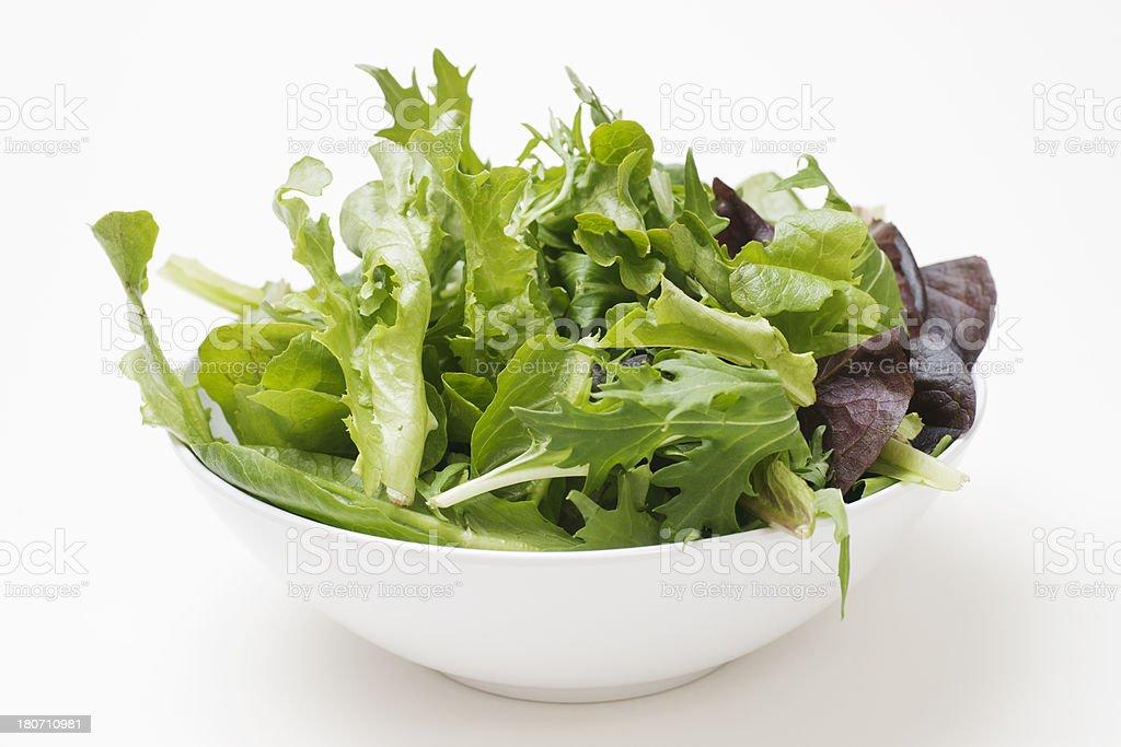 Salad Ingredients in Bowl royalty-free stock photo