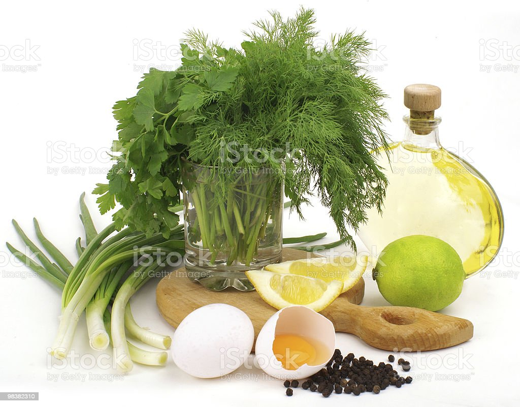 Ingredienti Insalata foto stock royalty-free