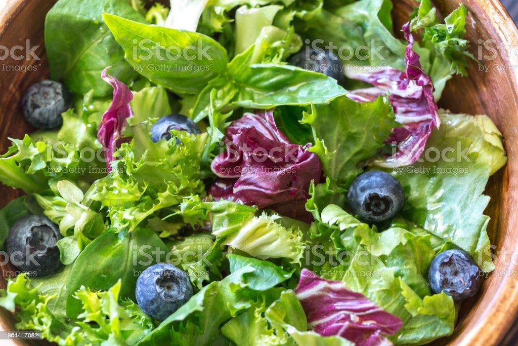 Mistura de salada fechar - Foto de stock de Alface royalty-free