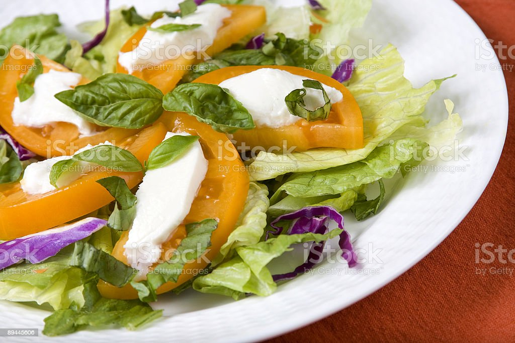 Salad of Heirloom Tomatoes royalty-free stock photo