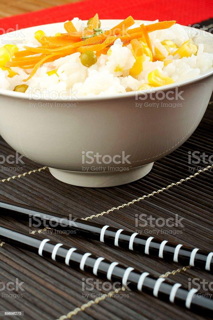 Ensalada de arroz foto de stock libre de derechos