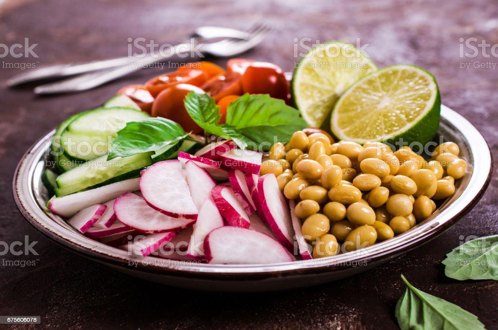 Salad of white beans photo libre de droits