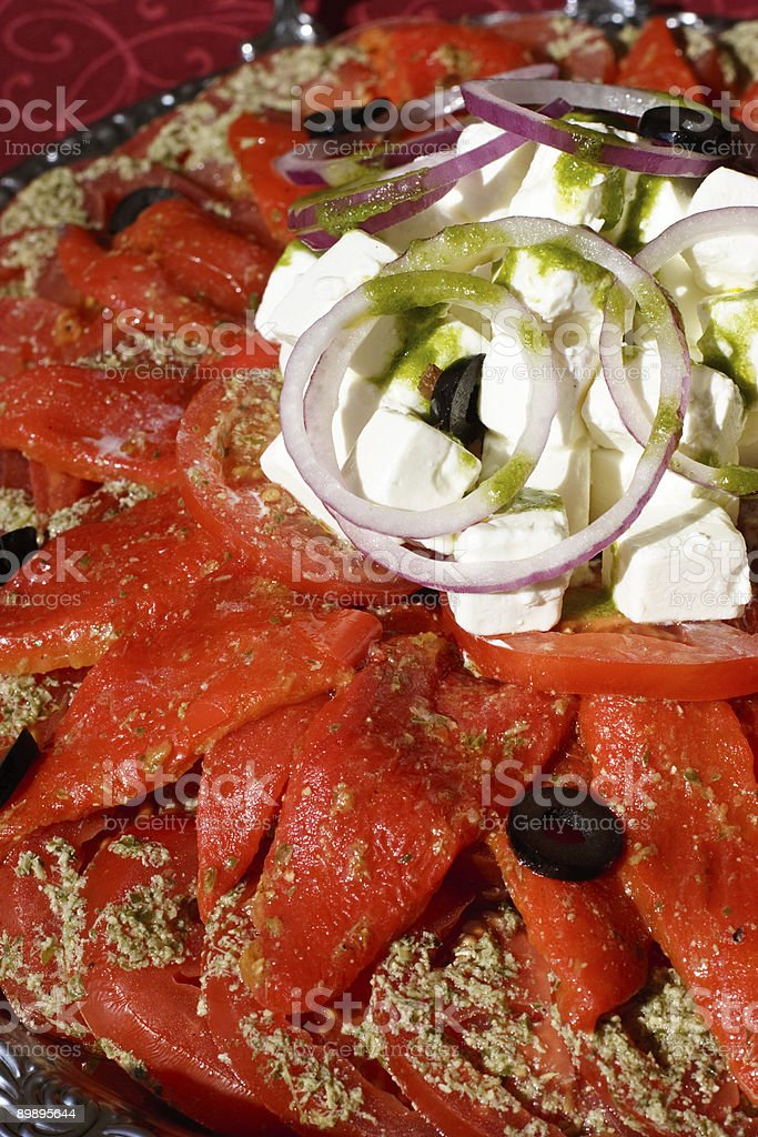 Salad on a plate royalty-free stock photo