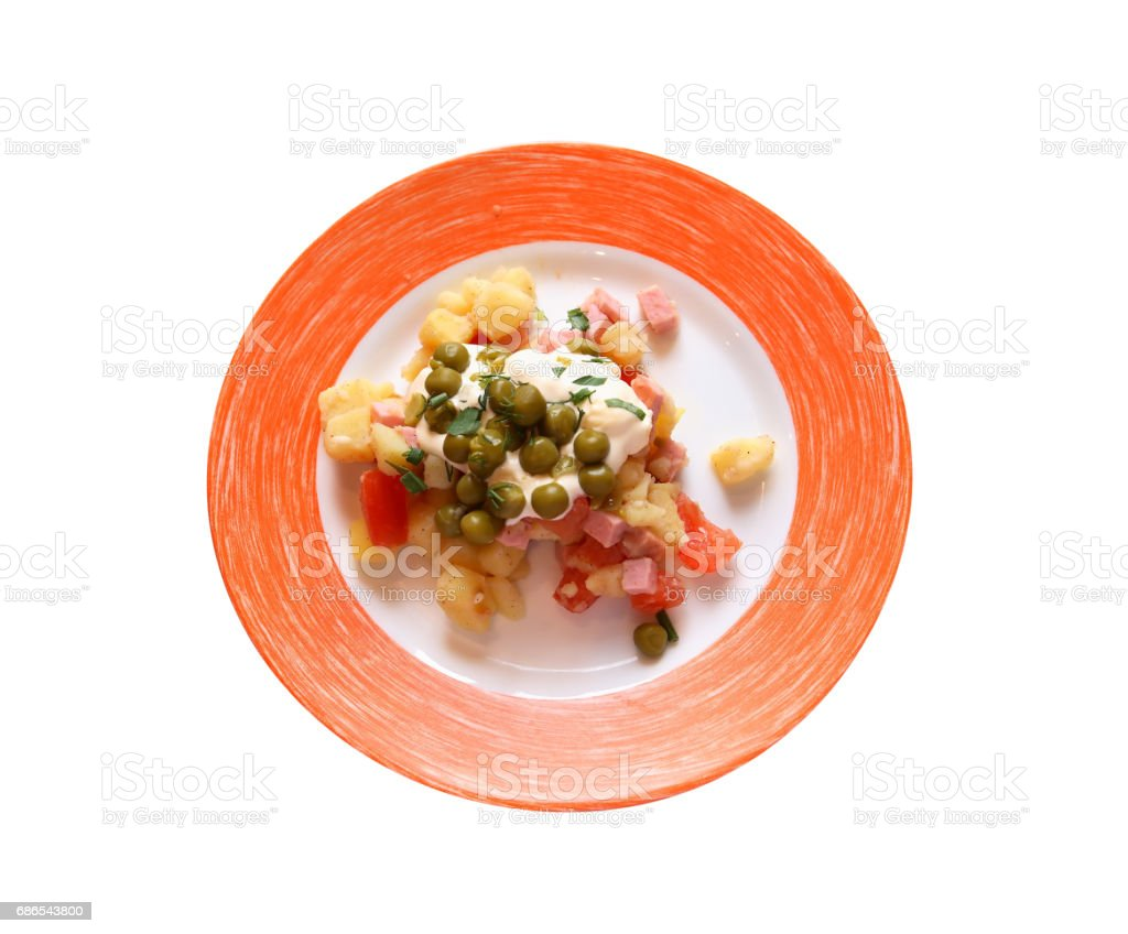 Salad On Plate royaltyfri bildbanksbilder