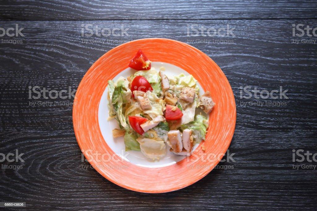 Salad On Plate zbiór zdjęć royalty-free
