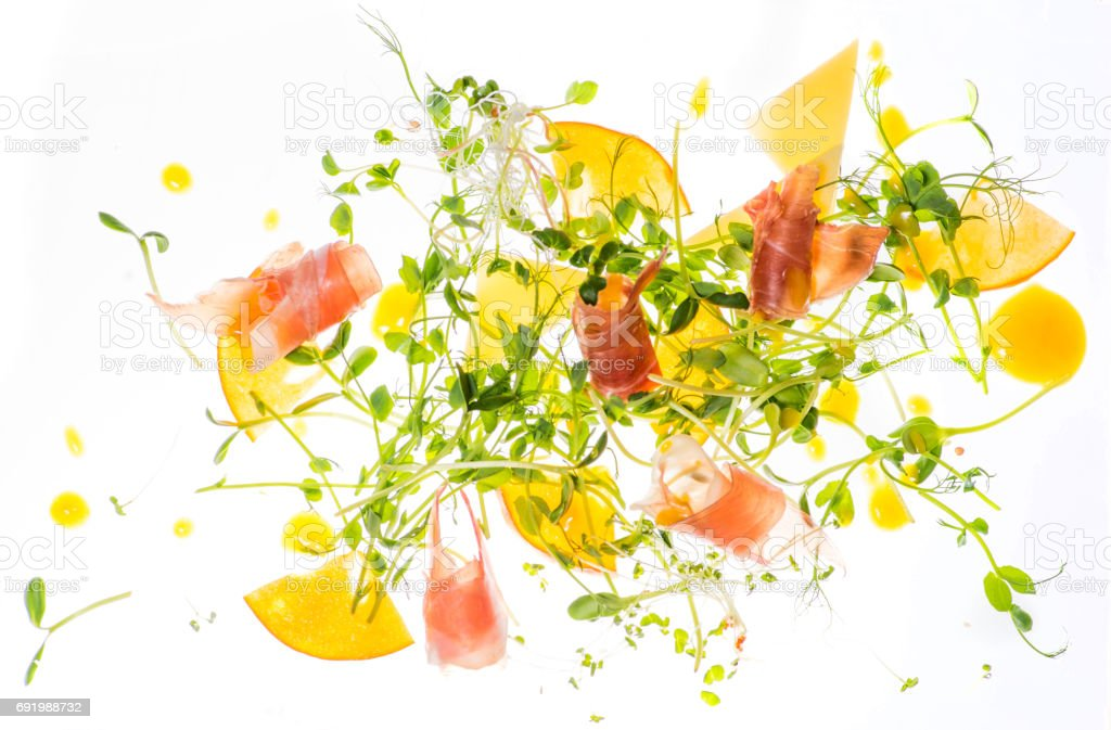 Salad on white background stock photo