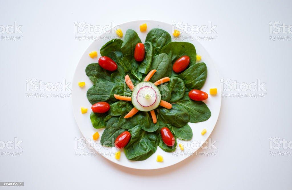 Salad Pattern stock photo